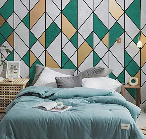 Suwhao aangepaste foto behang Scandinavische moderne donkergroene geometrische fresco retro woonkamer slaapkamer tv achtergrond muur muurschildering De parede 3D 400x280cm
