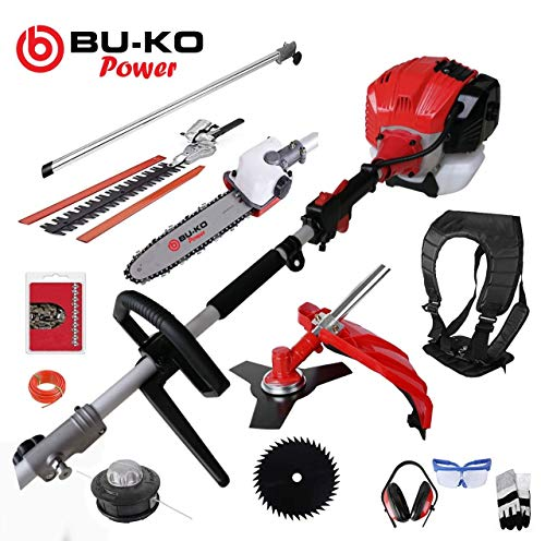 BU-KO 52cc Long Reach Petrol Multi Functional Garden Tool Including: Strimmer, Hedge Trimmer, Pruner...