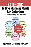 """2016 - 2017 Estate Planning Guide for Ontarians - """"Completing the Puzzle"""" (English Edition)"""