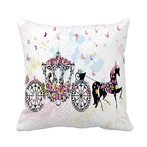 Two Sides Design Printed Pillowcase,Story Christmas Two Colored Nutcrackers Holidays Toys Retro Vintage Drummer Design Square Throw Pillow Cover Cushion Case for Sofa Couch Home Decor
