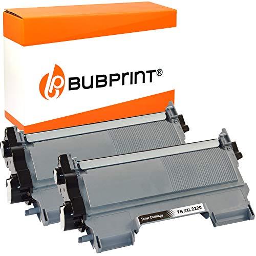 Bubprint Kompatibel Toner als Ersatz für Brother TN-2220 TN-2010 MFC-7360N DCP-7055 HL-2130 DCP-7065DN Fax 2840 HL-2270DW MFC-7460DN MFC-7860DW TN2220 schwarz 2er-Pack