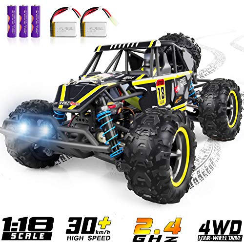 Remote Control Car, WHIRLT RC Cars for Kids, 4WD 2.4GHz 1:18 Scale High Speed Racing RC Car with 2...
