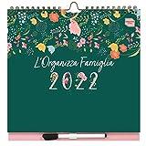 L'Organizza Famiglia Boxclever Press Calendario 2022 da muro. Planner settimanale 16 mesi con 6 colonne. Calendario 2021 2022 da metà Ago'21-Dic'22. Calendario Famiglia 2022 con liste, tasca e adesivi
