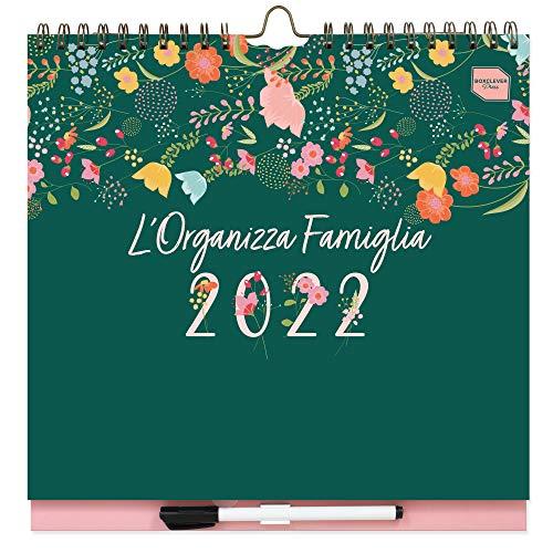 Planner settimanale L'Organizza Famiglia Boxclever Press. Calendario 2021 2022 16 mesi con 6 colonne. Calendario 2022 da metà Ago'21-Dic'22. Calendario 2022 da muro con liste, tasca e adesivi.