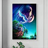 Phoenix 5d Diamond Painting Full Diamond Flying Sky Sala de estar Pasta Diamante Bordado Diamante Bordado Simple Moderno 90 X 130cm