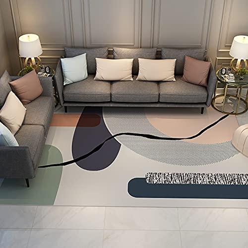 NTtie Alfombras Ultra Suaves para Interiores, Alfombra del hogar de la Sala de Estar del Dormitorio Minimalista Creativo
