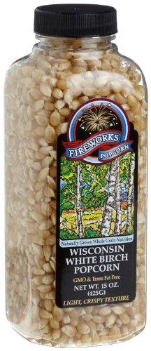 popstir popcorn poppers Fireworks Popcorn Wisconsin White Birch Popcorn, 15-Ounce Bottles (Pack of 6)