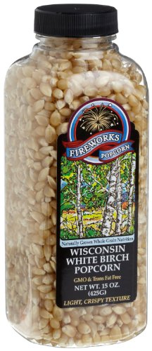 Great Price! Fireworks Popcorn Wisconsin White Birch Popcorn, 15-Ounce Bottles (Pack of 6)