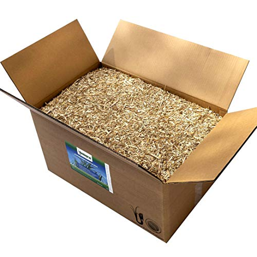 Jumbogras® Rindenmulch-Alternative: Garten-Mulch aus Miscanthus/Chinagras/Elefantengras-Häcksel für Pflegeleichte Gärten/Gartengestaltung/Gartenpflege (2 x 170 lt-Karton)