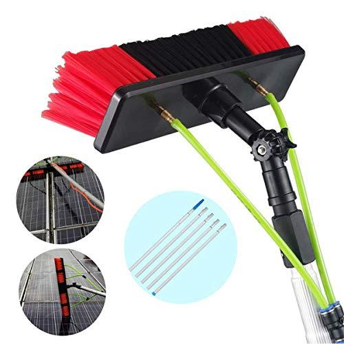 GJNWRQCY 3M-10M fotovoltaïsche wandpaneel-telescopische reinigingsset, raamreinigingsstang, watersproeiborstel, 30 cm borstelkop