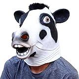 CreepyParty Halloween Kostüm Party Tierkopf Latex Maske Kuh Milchkuh
