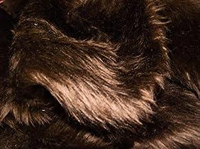CRS Fur Fabrics Plain Fun Faux Fur Fabric Material DK BROWN