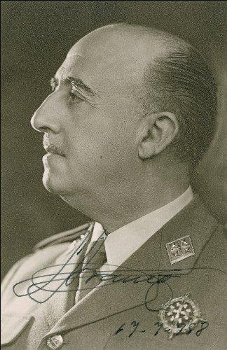 Fotografía de Francisco Francisco con autógrafo brillante, tamaño aproximado de 30,5 x 20,3 cm