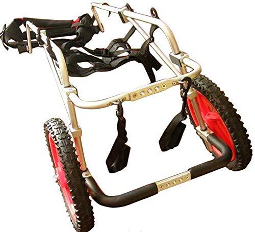 Carrito for perros, adecuado for la práctica de mascotas, rehabilitación, lesiones asistidas, caminatas asistidas, perros grandes especiales, ajustables, 2 ruedas, 25 kg (55 libras) - 45 kg (100 lbs),
