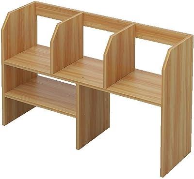 Lcxliga Caja de Almacenamiento de Escritorio de bambú estantería ...