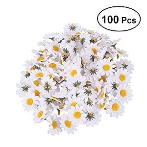 Artibetter Cabezas de Flores Falsas Artificiales de la Margarita del Gerbera 100pcs para Casarse la decoración casera