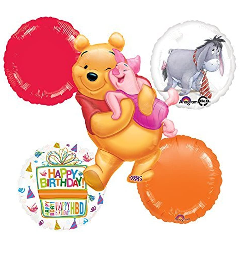 Winnie The Pooh, Piglet and Eeyore Birthday Party Balloon Bouquet Decorations