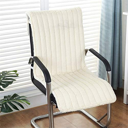 Soft Chair Cushion High Back Chair Patio Cushion Chaise Lounge Cushion Indoor Outdoor Garden Lounger Patio Cushion for Outdoor Indoor (Color : White, Size : 40cm)