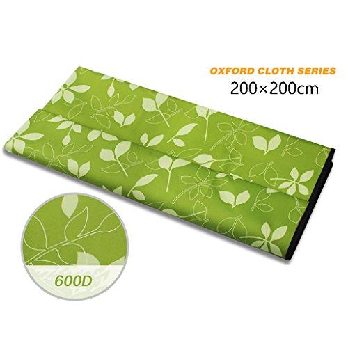 LXLA- Pliable étanche à l'humidité Camping pique-nique Tapis sauvage Tapis de tissu Couverture portable Oxford tissu PVC 200 * 200 cm Nombre applicable: 4-6 personnes ( Couleur : Style 2 )