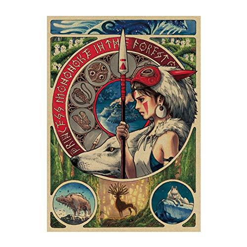 SGOT Anime Poster, My Neighbor Totoro Poster, Miyazaki Hayao Patinting, Bar Cafe Poster, Decorative Painting Poster Wandgemälde 51x36cm(H04)