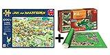 Outletdelocio Pack Puzzle Jumbo 19021. Jan Van Haasteren. Carrera de Cortacesped....