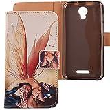 Lankashi PU Flip Leder Tasche Hülle Case Cover Schutz Handy Etui Skin Für Alcatel One Touch Pixi 4 5010D 5' Wing Girl Design
