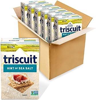 6-Pack Triscuit Hint of Sea Salt Whole Grain Wheat Crackers 8.5 oz Boxes