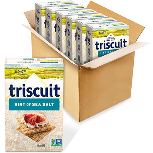 6 Boxes Triscuit Hint of Sea Salt Whole Grain Wheat Crackers Now $10.06