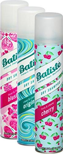 Batiste - Champú en seco, aroma de frutas y cereza, para todos los tipos de cabello, 3 unidades por paquete (3 recipientes de 200 ml)
