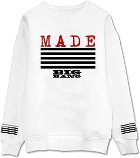babyhealthy Kpop Bigbang Sweater G-Dragon Top VI White Long Sleeve Pullover Sweatshirt