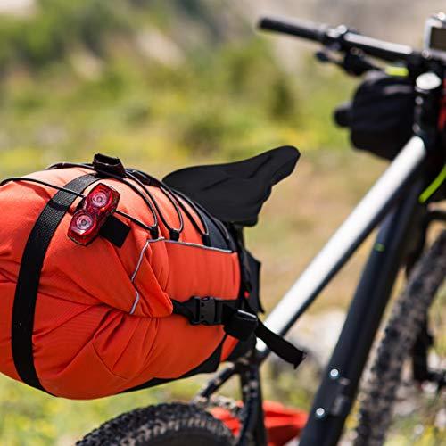 Relaxdays Sattelbezug mit Gel, weich & bequem, Gelüberzug für Fahrradsattel, mit Sicherheitsband, gepolstert, schwarz - 3