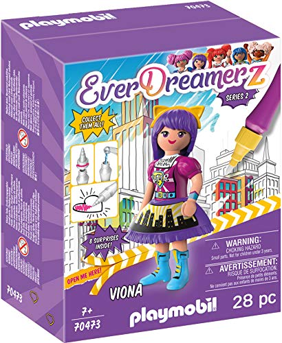 PLAYMOBIL- EverDreamerz 70473 Viona - Comic World, Mit PLAYMOBIL-Wasserstift, Ab 7 Jahren