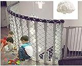 MWPO Red de protección Infantil, Red de Cuerda Blanca balcón Valla de Malla Ventanas Red de Seguridad Caja de Escalera Red de Seguridad decoración de jardín Columpio 1.5 * 2
