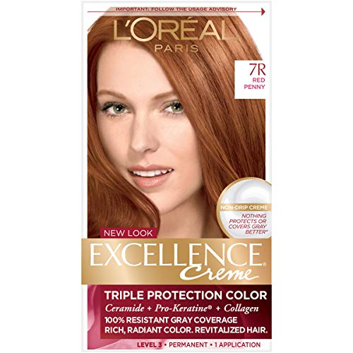 L'Oreal Paris Excellence Creme Triple Protection Color 7R Red Penny 1ea