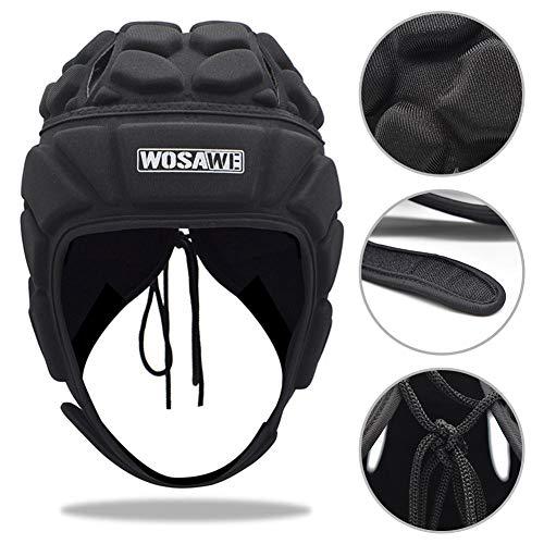 Supertop Torwart Helm, Männer Fußball Kopfbedeckung Verdickt Einstellbare Erwachsenen Fußball Rugby Fußball Kopfschutz Ausrüstung Schutzhelm Schutzhut