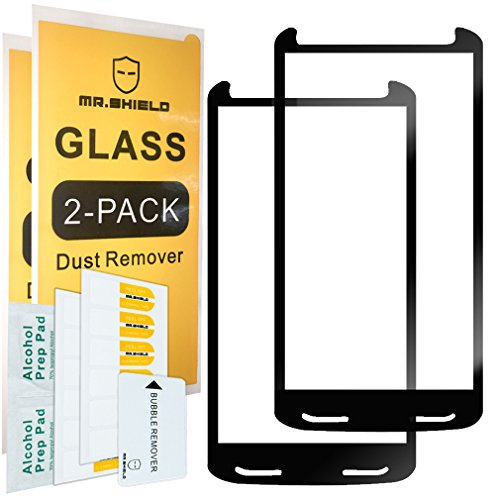 [2-PACK]-Mr.Shield For Motorola Moto Droid Turbo 2 [Japan Tempered Glass] [9H Hardness] [Full Screen Glue Cover] Screen Protector with Lifetime Replacement