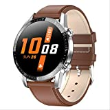 2020 Neue Smartwatch Herren Damen Busine Sport Bluetooth 5.0 Smartwatch Herzfrequenz Blutdruckmessgerät Smartwatches Anrufen Braun