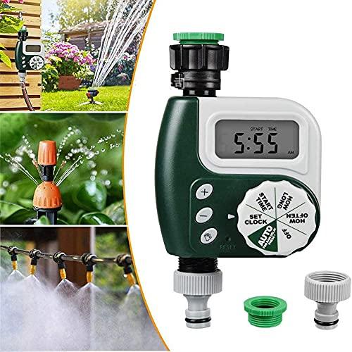 CYzpf Temporizador de Riego Automático LCD Programador Jardínistema Control Controlador Aspersores para el Hogar Jardinería Planta Balcón Patio Vegetal,