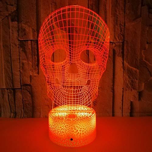 3D LED Nachtlicht, Bunte Berührung 3D Illusion Lampe With remote control, 7 Farbwechsel Dekor Lampe USB Tischlampe, perfekte Geschenke für Kinder (Color : 2)