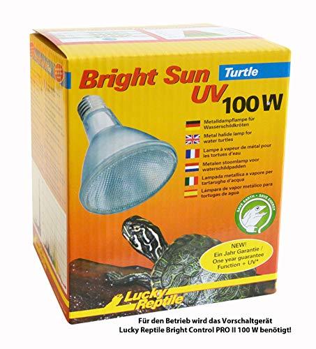 Lucky Reptile Bright Sun Turtle 100 W, UV-Beleuchtung für E27 Fassungen für Wasserschildkröten