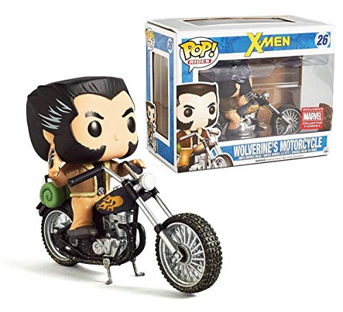 USA OFFICIAL X-Men Funko Pop 26 Wolverin's Motorcycle Exclusive Marvel Collector Corps 16 cm