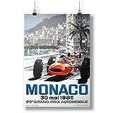 1965 Monaco Grand Prix A0 A1 A2 A3 A4 Satin Foto Plakat