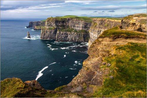 Acrylglasbild 90 x 60 cm: Irland – Klippen von Moher von Jürgen Klust - Wandbild, Acryl Glasbild, Druck auf Acryl Glas Bild