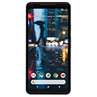 Google Pixel 2 XL 64GB Unlocked GSM/CDMA 4G LTE Octa-Core Phone w/ 12.2MP Camera - Just Black Front Screen Display