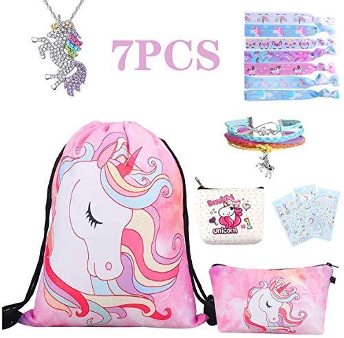 8PCS Regalo de unicornio para niñas unicornio Party Favors (Pink) Incluye mochila...