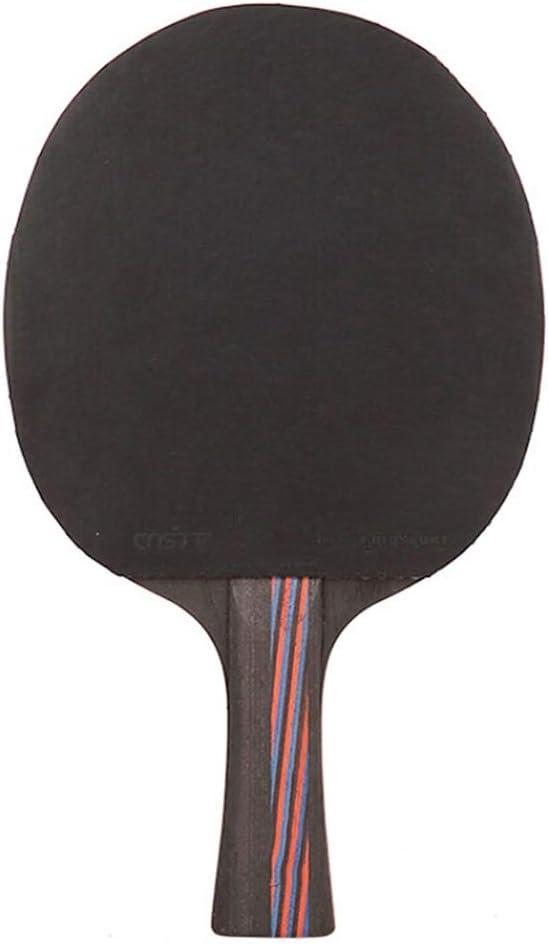Hewen - Conjunto de raquete de tênis de mesa pingpong durável de nível profissional para treinadores, amadores, iniciantes, tacos de tênis de mesa de especialistas (cor: preto, tamanho: curto)