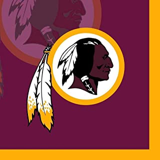 Washington Redskins NFL Pro Football Sports Banquet Paper Beverage Napkins Football Game Day Sports Themed College University Party Supply NFL Napkins Beverage for 20 Guests Red Yellow Napkins