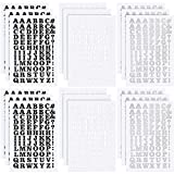 18 Sheets Iron-on Letters 0.75 Inch Heat Transfer Letters Adhesive Letters DIY Fabric Vinyl Alphabets for Clothing Printing Crafts Decorations (Black, Silver, White)