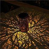 IJKLMNOP Solar Lights Outdoor Lanterns Waterproof Hanging Solar Powered Pathway Lights Auto On/Off, Decorative Garden LED Landscape Lighting for Walkway Pathway Patio Yard Driveway