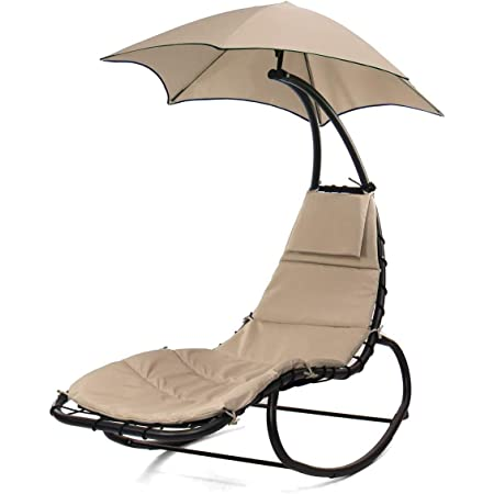 TechFaith Hammock Stand Outdoor Chair Outdoor Swings for Adults Patio Lounge Chair Outdoor Hanging Chair Outdoor Lounger Free Standing Hammock Yard Chair Blue